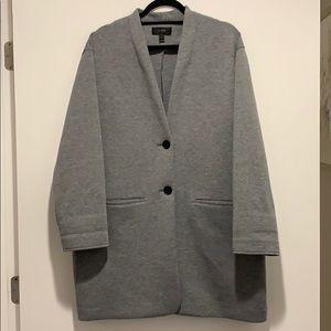 J. Crew Heather Gray Fleece Jacket